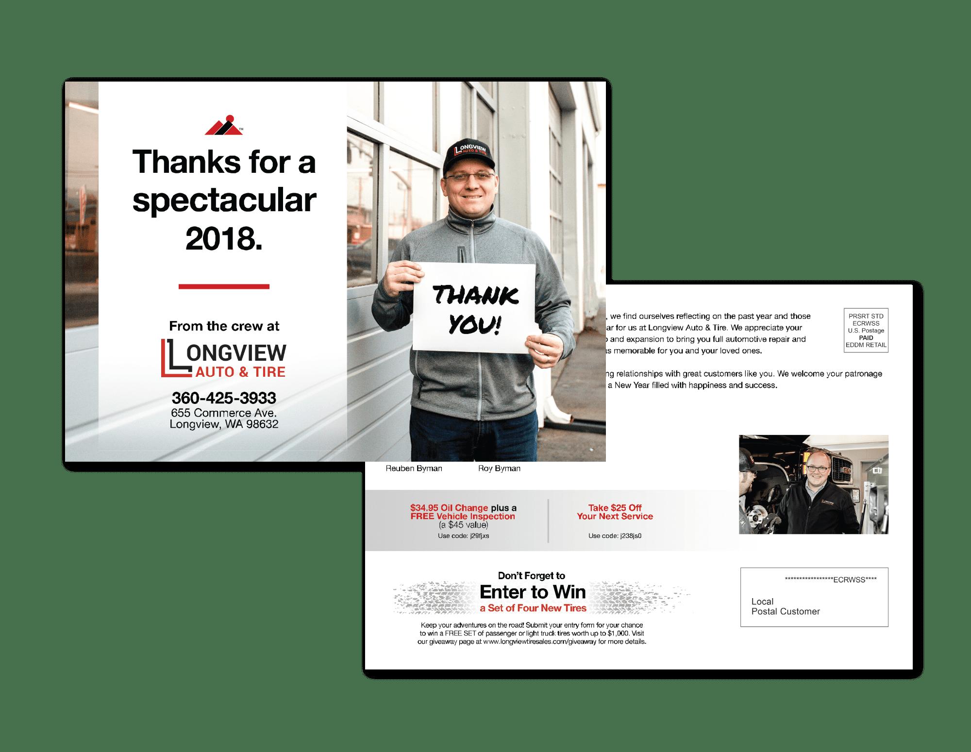 Automotive EDDM Postcard