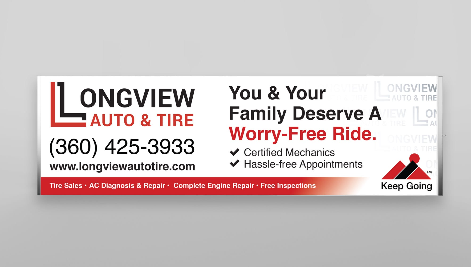 Automotive Booth Banner